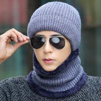 男士帽子保暖针织帽 韩版加绒毛线帽护耳帽男青年套头棉帽
