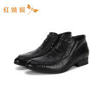 红蜻蜓男鞋商务休闲皮鞋男士真皮上班工作鞋时尚休闲皮鞋-