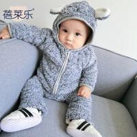 婴儿女童外套秋冬装儿童新款中小童男童宝宝法兰绒休闲开衫上衣