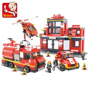 【当当自营】小鲁班急速火警系列儿童益智拼装积木玩具 救援大行动M38-B0226