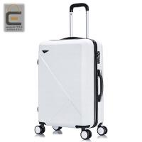 复古行李箱拉杆箱女韩版小清新学生旅行箱万向轮子母密码箱潮硬 白色 买一送十