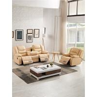 真皮沙发 头等太空功能舱沙发 简约现代大小户型客厅电动沙发组合 组合