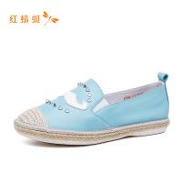 【专柜正品】红蜻蜓女舒适时尚可爱大胡子休闲女单鞋