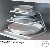 物有物语 碗架 日式厨房铁艺碗碟架沥水架餐盘餐具收纳碗碟架整理架