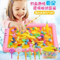 儿童钓鱼套装玩具池磁性戏水男孩女孩宝宝益智玩具1-3-4-6岁批发