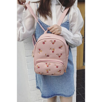韩版小清新刺绣樱桃大包女包简约时尚学院风学生双肩包背包旅行包 中