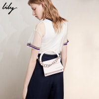 Lily2018夏新款女装商务OL时髦小巧单肩手提链条包118210BZ805