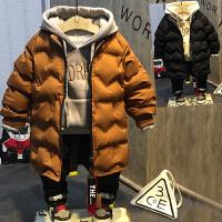 儿童装男童加厚上衣中长款羽绒棉小孩衣服2018春冬新款E343 P