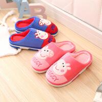 儿童棉拖鞋秋冬男童女童孩子室内居家室内小孩宝宝防滑儿童拖鞋