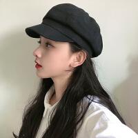 网红八角帽女秋冬天戴的贝雷帽女韩版春夏季英伦报童帽遮阳帽子潮