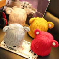 冬季儿童帽子 韩国男女童宝宝2-3-4岁毛线帽套头帽保暖帽子