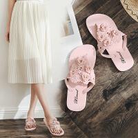 人字拖女夏季时尚防滑夹脚沙滩平底跟外穿女士凉拖鞋外出