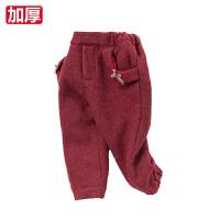 davebella戴维贝拉女童秋冬夹棉保暖棉裤 女宝宝裤子27093