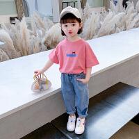 女童夏装套装洋气儿童装小童宝宝夏季短袖T恤两件套