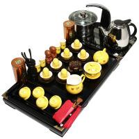 尚帝 黄金龙茶具套装 实木茶盘 功夫茶具 电热壶茶盘套装 TZ-BJ12K003