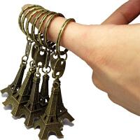 复古zakka小铁塔挂件 古铜铁塔钥匙扣 Paris浪漫小铁塔 zakka 古铜复古|埃菲尔铁塔款钥匙扣 手机链 DI