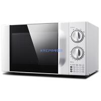 蛋糕烤箱家用20L转盘机械式家用微波炉 白色