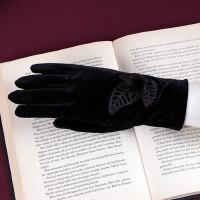 手机可触摸屏手套女秋冬保暖防寒短薄款女式开车手套防滑