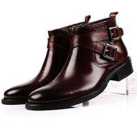 CUM 男士 高帮鞋 尖头英伦鞋子 时尚潮流商务正装皮鞋 休闲鞋