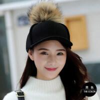 棒球帽女帽子女韩版休闲百搭鸭舌帽时尚潮呢子嘻哈帽青年街头
