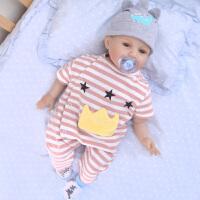 新生儿连体衣婴儿夏装条纹夏款爬服男女宝宝哈衣服短袖0-1岁