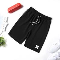 短裤男士五5分裤夏天休闲中裤子男韩版沙滩裤夏季运动短裤K917白标