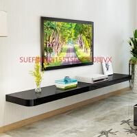 电视墙置物架实木一字隔板客厅墙上壁挂电视柜背景墙机顶盒装饰架 60长23宽 厚4厘米
