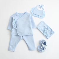 20180510010317989新生儿衣服3个月冬季初生婴儿内衣套装宝宝和尚服六件套