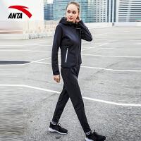 【折上1件5折】安踏运动套装女春季新款时尚两件套休闲套装跑步套装宽松运动服96817730