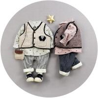 男童装秋冬款套装婴儿小童衣服宝宝冬装0-1-2-3岁加厚棉衣外套潮