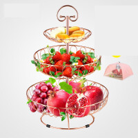 【支持礼品卡】水果盘篮创意家用欧式现代功能甜品多层客厅茶几简约零食三层架盆r7s