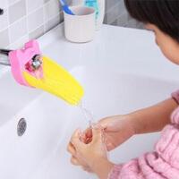 儿童水龙头延伸器幼儿宝宝洗手龙头 洗手辅助器 导水槽 粉色