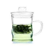 耐热玻璃杯 创意三件式泡茶杯 过滤带盖套装茶具 水杯 茶壶 花茶杯 杯子玻璃杯