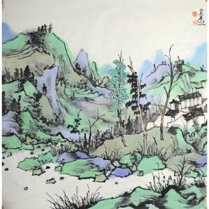 林容生福建美协副主席、国家画院画家 山水