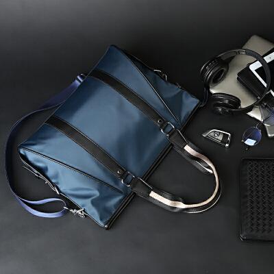 尼龙防水男士手提包公文包时尚潮流商务男包单肩包斜挎包男电脑包 发货周期:一般在付款后2-90天左右发货,具体发货时间请以与客服协商的时间为准