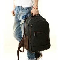 休闲双肩包中学生背包书包 韩版潮流帆布包男包 电脑包旅行包大容量旅行包