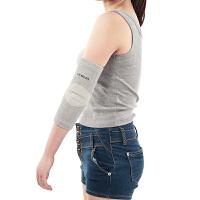 平板支撑护肘关节运动护具健身女士保暖羽毛球排球护臂篮球男冬季新品 浅灰色 两只装