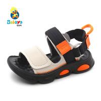 【1件8折价:69元】芭芭鸭儿童凉鞋沙滩鞋男童软底防滑2020夏季新款中大童鞋男孩鞋子