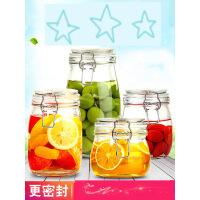 玻璃密封罐厨房食品收纳盒泡菜蜂蜜奶粉储物果酱瓶透明茶叶罐 r1o