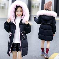 童装女童棉衣外套韩版中大童冬季中长款洋气冬装