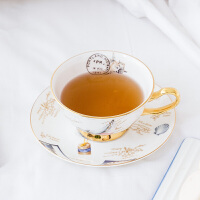 奇居良品 下午茶陶瓷茶具 萨迪帆船骨瓷咖啡杯碟套装