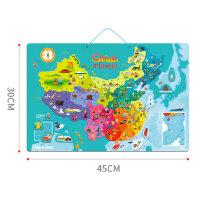 TOI木质磁性中国地图拼图儿童益智玩具宝宝女孩男孩3-4-5-6岁画板