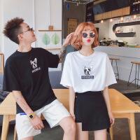 情侣装2018夏季新款韩版时尚个性印花莫代尔宽松半袖学生潮流T恤