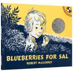 小塞尔采蓝莓英文原版Blueberries for Sal启蒙阅读儿童情商培养绘本 凯迪克银奖 汪培�E书单第二阶段 正
