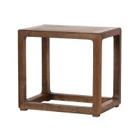 璞木新中式方凳换鞋凳北美黑胡桃茶室凳设计师家具小矮凳实木