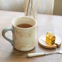 创意简约杯子陶瓷大容量马克杯带盖勺ins随手杯咖啡杯办公室水杯
