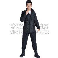 新款男款冲锋衣 保暖迷彩内胆连帽抓绒 防风防水 黑色M65迷彩风衣 外套军迷服饰