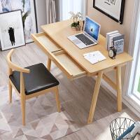 实木书桌简约家用学生电脑桌卧室书房写字台学生学习桌现代办公桌