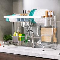 304不锈钢厨房置物架碗碟架沥水架刀筷收纳盒水槽收纳架双层