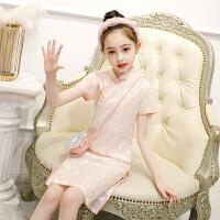 儿童旗袍夏季改良女童中式礼服连衣裙大童唐装薄款演出服
